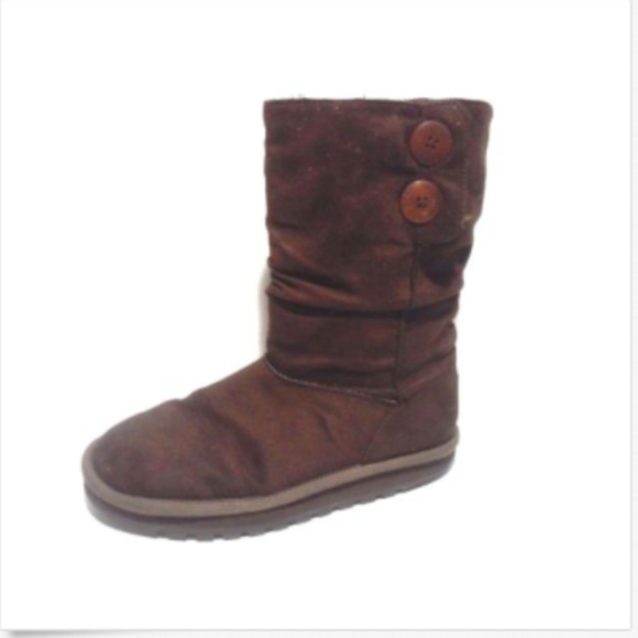 cbed77724ae Skechers Keepsake Brown Boot Faux Winter Women 8.5